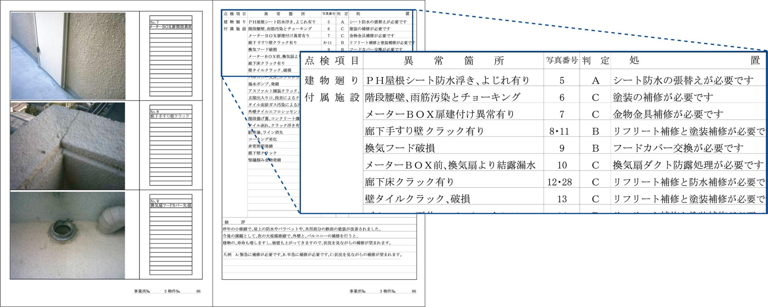 建物点検報告書の作成